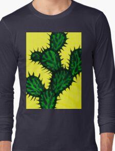 Chinese brush painting - Opuntia cactus. Long Sleeve T-Shirt