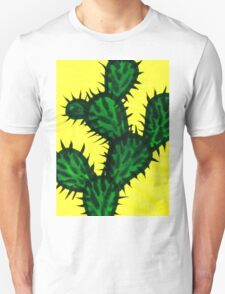 Chinese brush painting - Opuntia cactus. T-Shirt