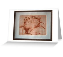 """""""Study of the Horses"""" Greeting Card"""