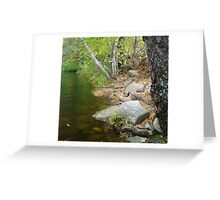 rocky bank Greeting Card