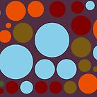Retro Pop Colorful Polka Dot Pattern by Nhan Ngo