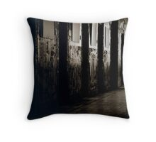 Armagh Gaol Cell Doors Throw Pillow