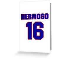 National baseball player Remy Hermoso jersey 16 Greeting Card