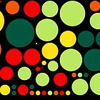 Retro Pop Colorful Polka Dot Pattern #2 by Nhan Ngo