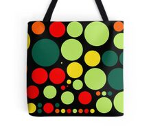 Retro Pop Colorful Polka Dot Pattern #2 Tote Bag