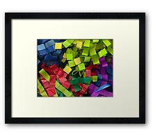 Colorful cut tissue paper Framed Print