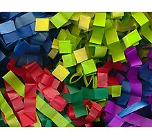 Colorful cut tissue paper Photographic Print