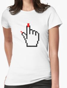 FEMALE COMUTER CURSOR POINTER Womens Fitted T-Shirt
