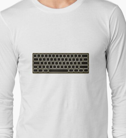 COMPUTER KEYBOARD BLACK Long Sleeve T-Shirt