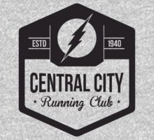 The Flash - Central City Running Club Black by garywithrow
