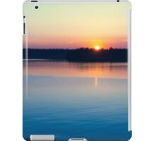 Scandinavia, sunset on sea and tranquil evening iPad Case/Skin
