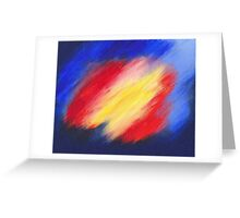 Abstract colorful acrylic painting Greeting Card