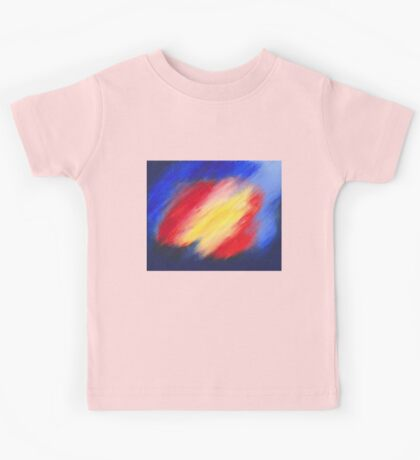 Abstract colorful acrylic painting Kids Tee