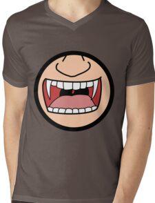 Vampire Badge Mens V-Neck T-Shirt