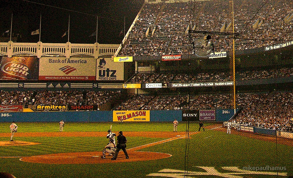 night game at yankee stadium by mikepaulhamus