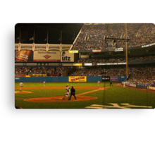 night game at yankee stadium Canvas Print