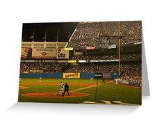 night game at yankee stadium Greeting Card