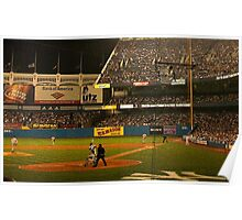 night game at yankee stadium Poster