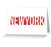 NEW YORK red/white Greeting Card