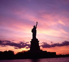 Lady Liberty in Lavender and Pink by Tom Wurl