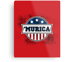 'MURICA T-Shirt. America. Jesus. Freedom. - The Campaign Metal Print