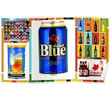 Canadian Beer Collection Poster