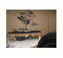 Charcoal on Wall Art Print