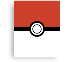 Pokemon Pokeball Inspired iPhone and iPad Case Canvas Print