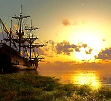 boat landscape by MrNuTruT