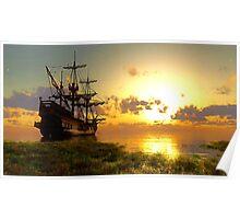 boat landscape Poster