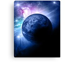 Earth and Nebula iPhone and iPad Case Canvas Print