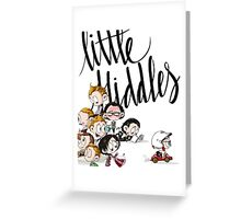 Little Hiddes Title Art Greeting Card