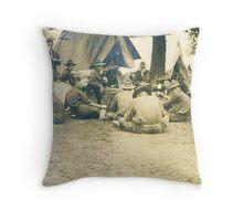 campsite ww1 Throw Pillow