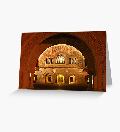 Memorial Church in Stanford Campus Greeting Card