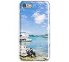 Boats in Tropical Harbor.jpg iPhone Case/Skin