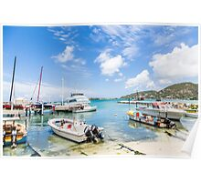 Boats in Tropical Harbor.jpg Poster