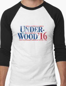 Underwood '16 (distressed style) Men's Baseball ¾ T-Shirt