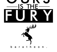 Ours Is The Fury - Black by gameofshirts