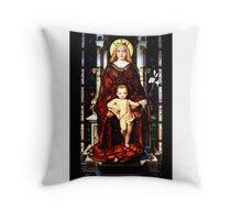 Virgin Mary Baby Jesus Throw Pillow
