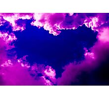 Purple heart and pink clouds Photographic Print