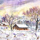 Geese In Germany In Winter by Goodaboom