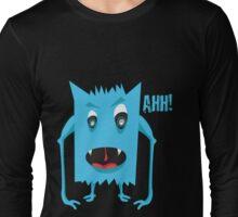 crazy blue monster Long Sleeve T-Shirt