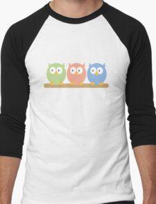 three owls Men's Baseball ¾ T-Shirt