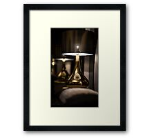 Lamp Shade on the table Framed Print