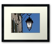 Lantern in the sky Framed Print