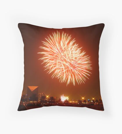 UAE National Day  - Fireworks Throw Pillow