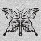 A tribal butterfly by Dalton Sayre