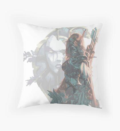 Sylvanas - Queen of the Undeads Throw Pillow
