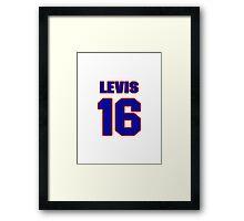 National baseball player Jesse Levis jersey 16 Framed Print