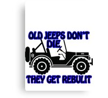 old jeeps Canvas Print